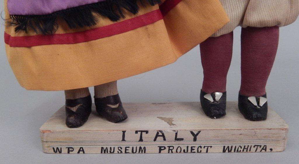 Pair of WPA dolls Italy - 2