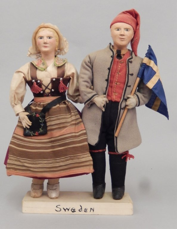 Pair of WPA Dolls Sweden