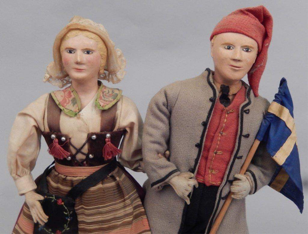 Pair of WPA Dolls Sweden - 2