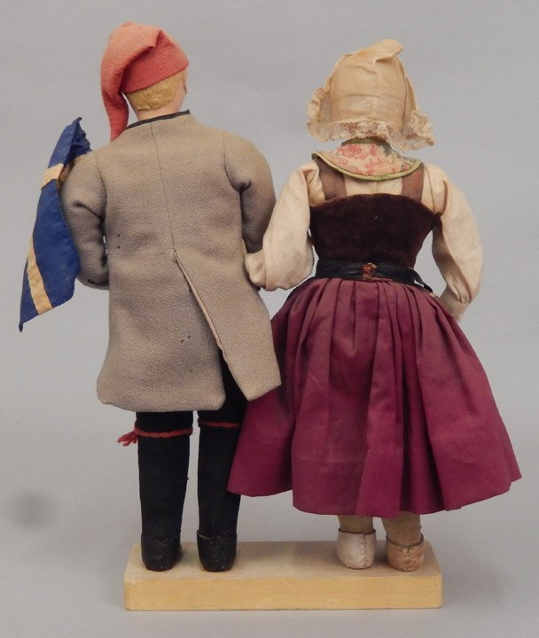 Pair of WPA Dolls Sweden - 3