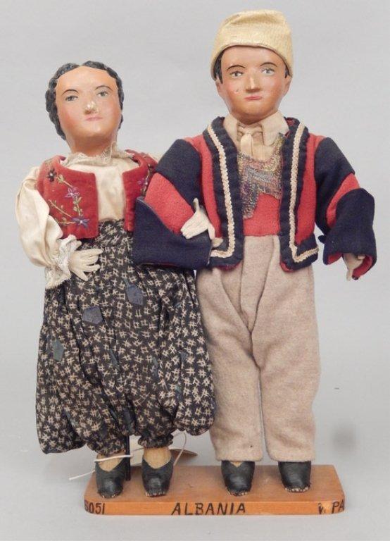 Pair of WPA Dolls Albania