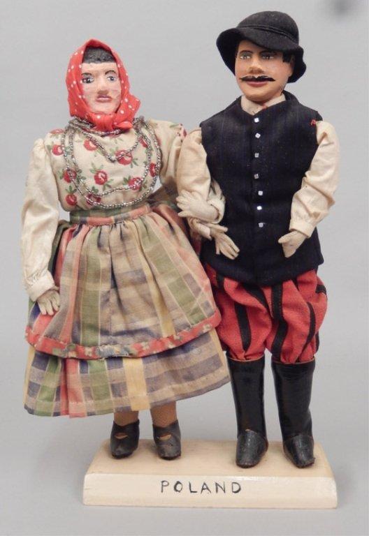 Pair of WPA Dolls Poland