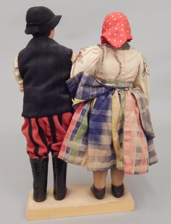 Pair of WPA Dolls Poland - 3