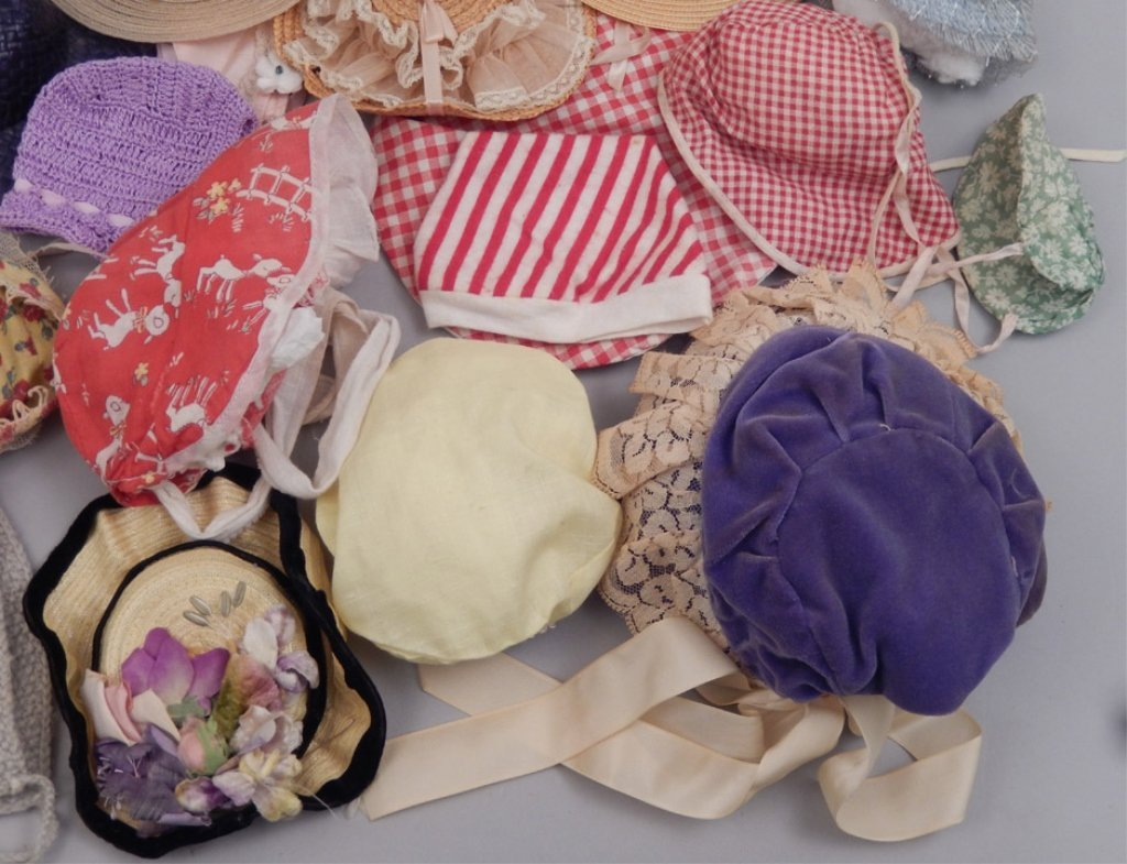 Grouping of vintage doll hats - 2