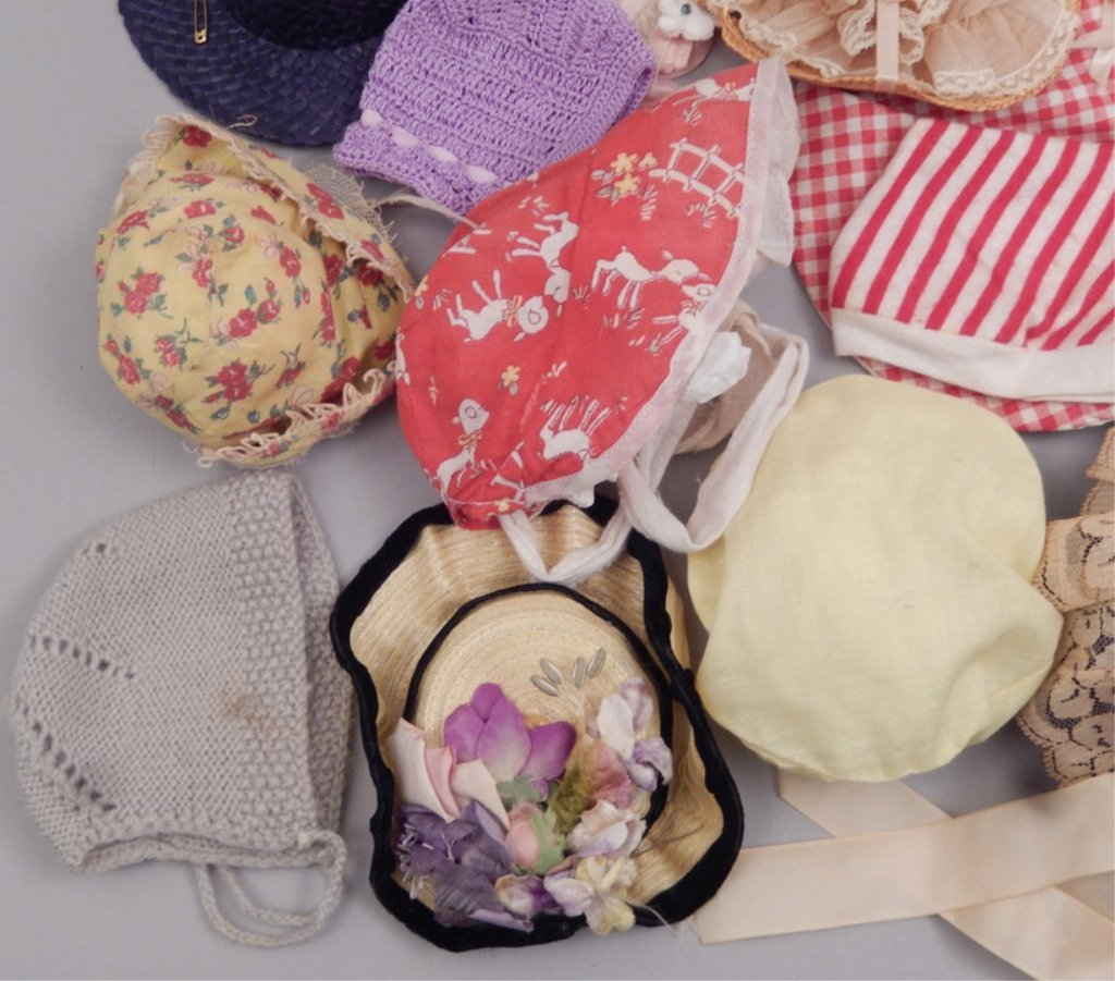 Grouping of vintage doll hats - 3