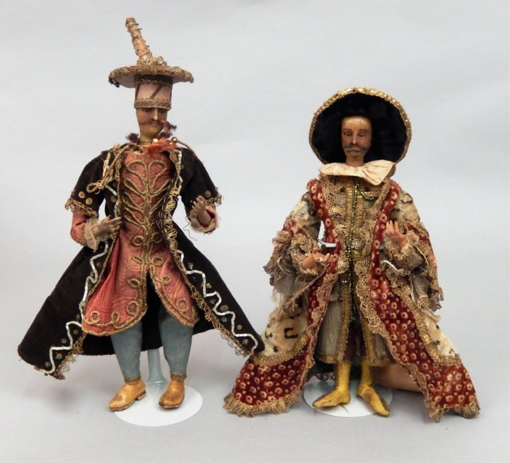 Two late 1800's crèche figures