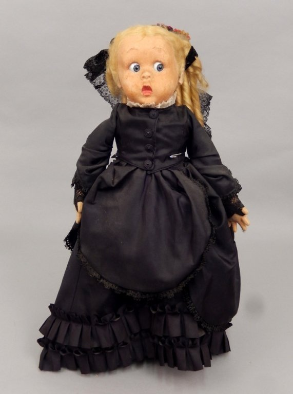 1930's original Italian cloth Lenci Merry Widow doll
