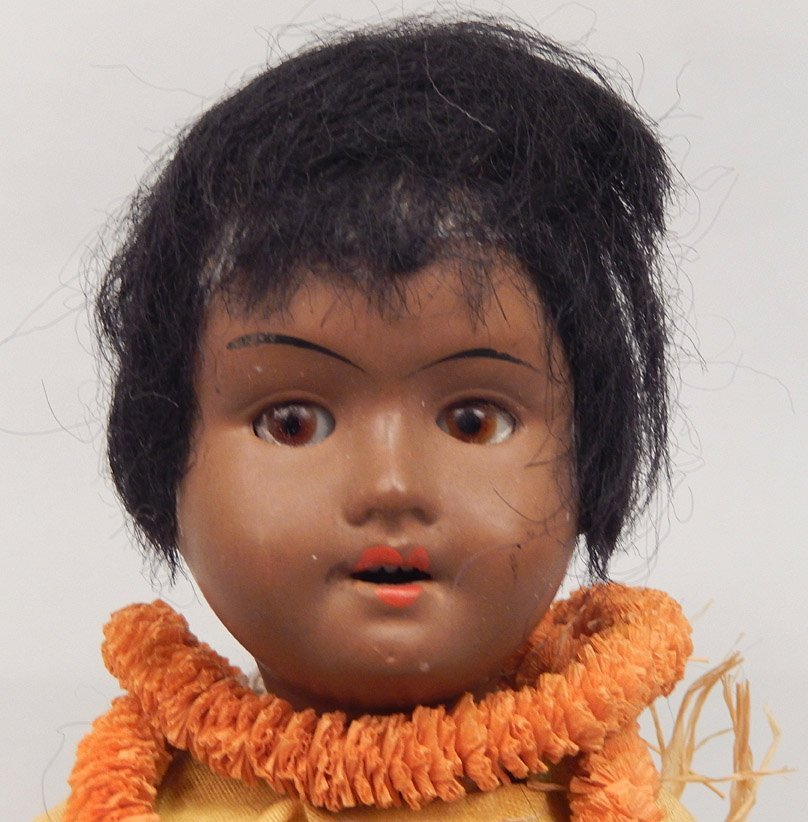Walther & Sohn black bisque head doll - 2