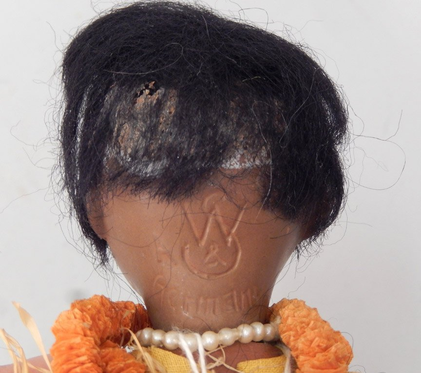 Walther & Sohn black bisque head doll - 4