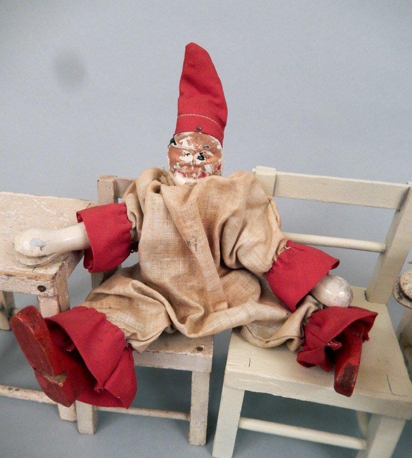 1920's-40's Schoenhut wooden clowns and furniture - 4