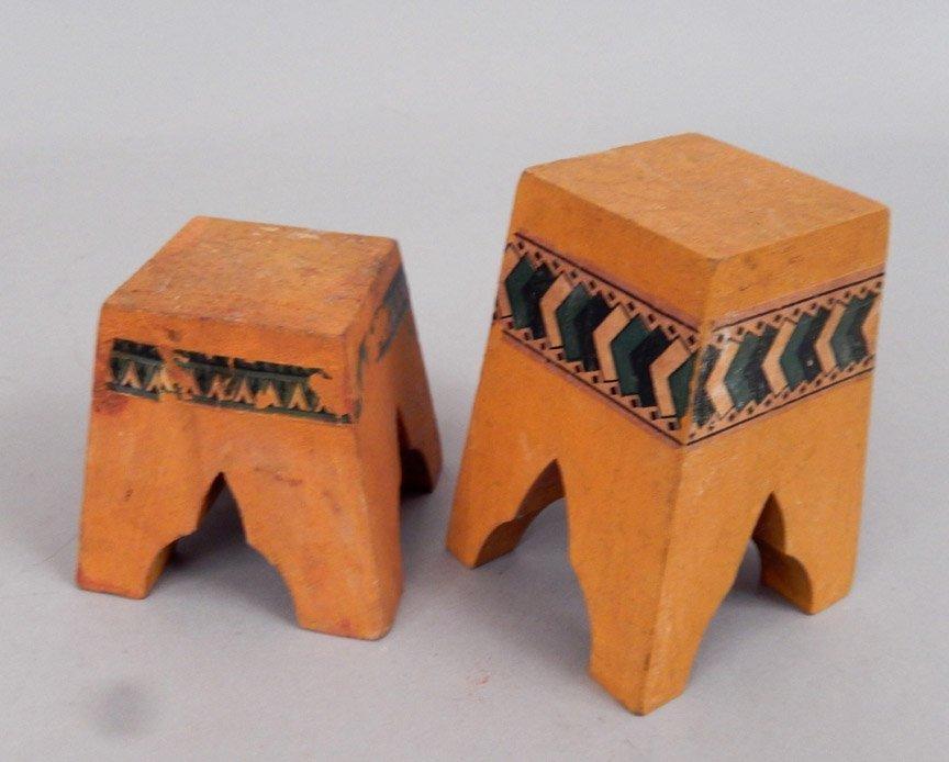 1920's-40's Schoenhut wooden horses and stands - 5