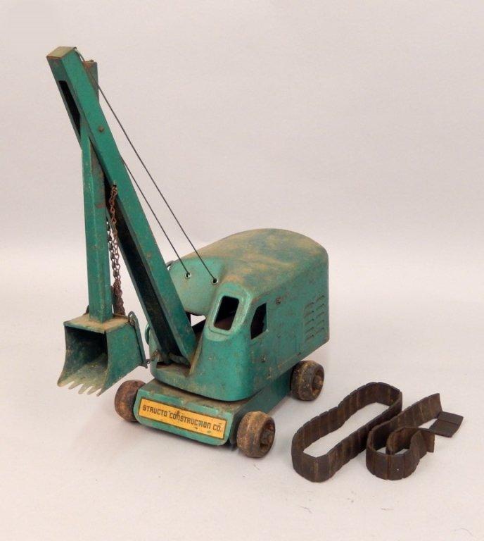Structo Steam Shovel pressed steel