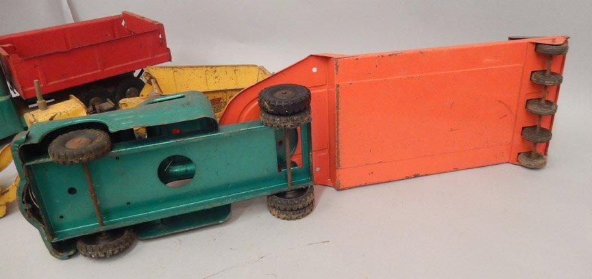Three pressed steel trucks - 4