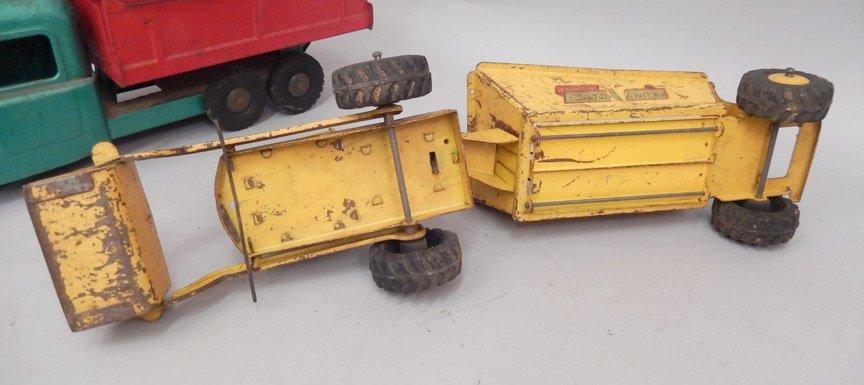 Three pressed steel trucks - 7