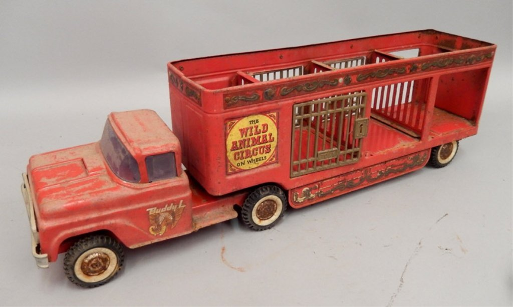 Buddy L The Wild Animal Circus pressed steel truck