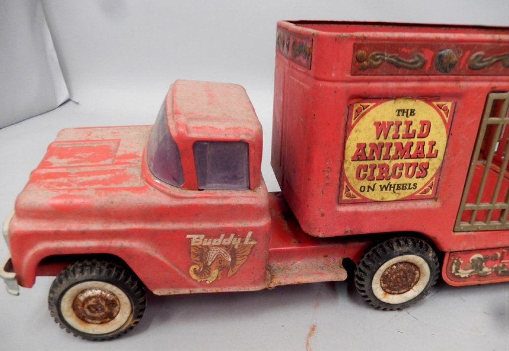 Buddy L The Wild Animal Circus pressed steel truck - 2
