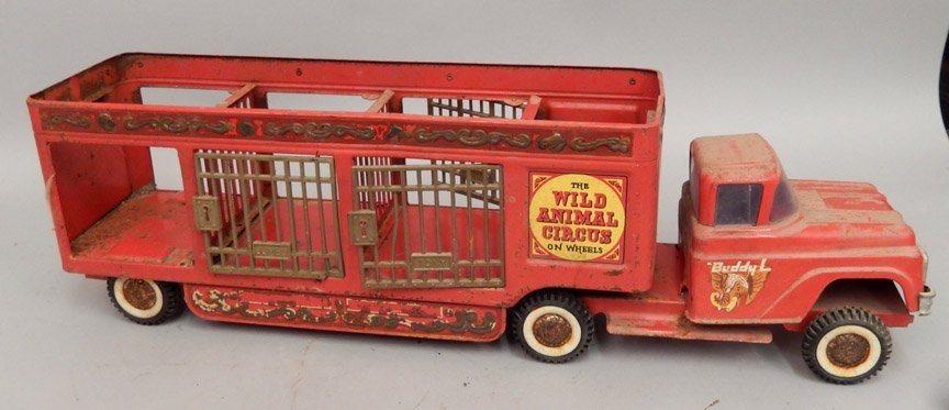 Buddy L The Wild Animal Circus pressed steel truck - 4