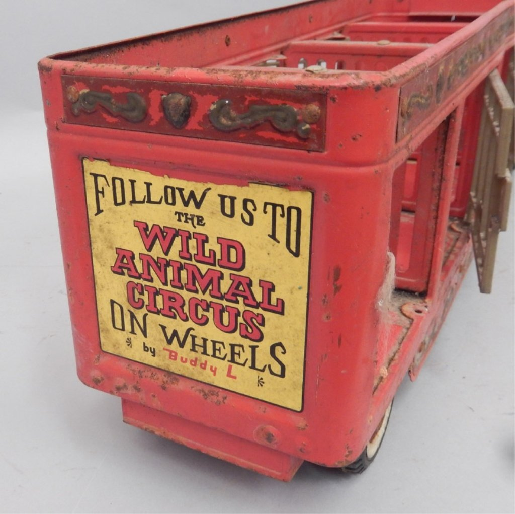 Buddy L The Wild Animal Circus pressed steel truck - 6