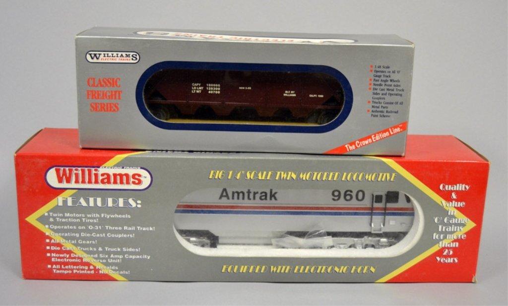 Williams Amtrak locomotive and freight car