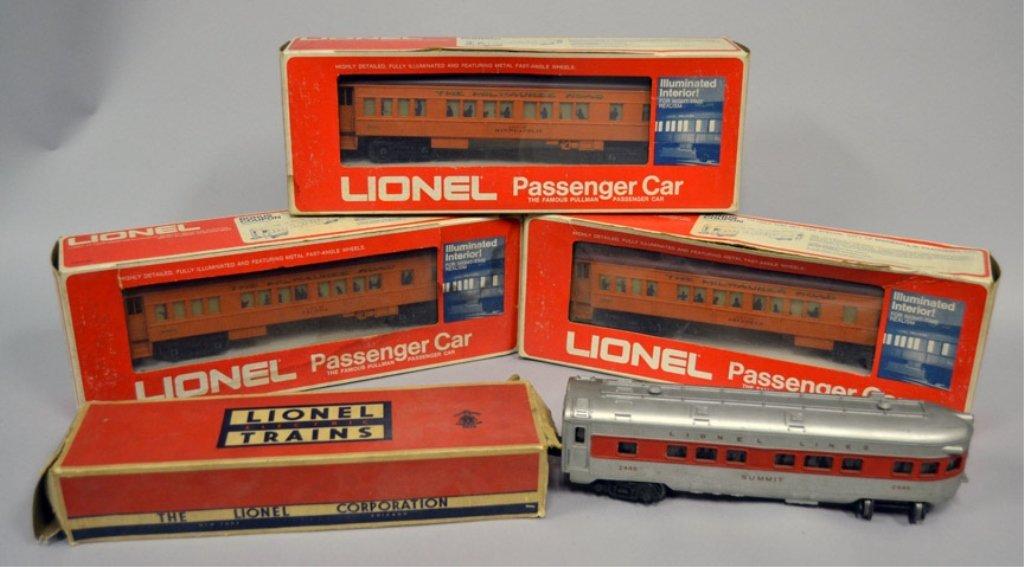 Four Lionel Passenger Cars