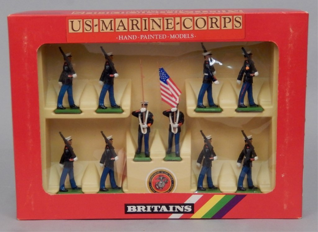 Britains US Marine-Corps soldiers in box