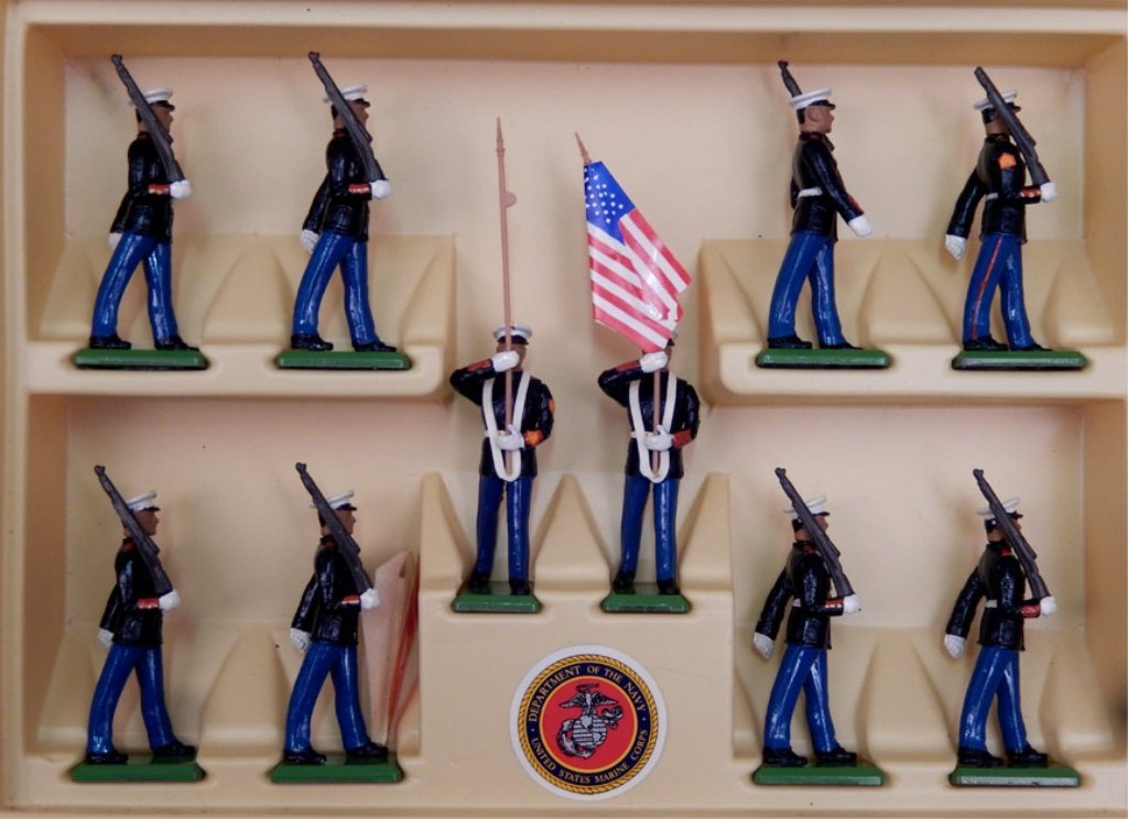 Britains US Marine-Corps soldiers in box - 2