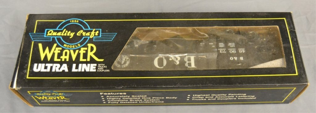 Nine Weaver Ultra Line freight cars in original boxes - 2