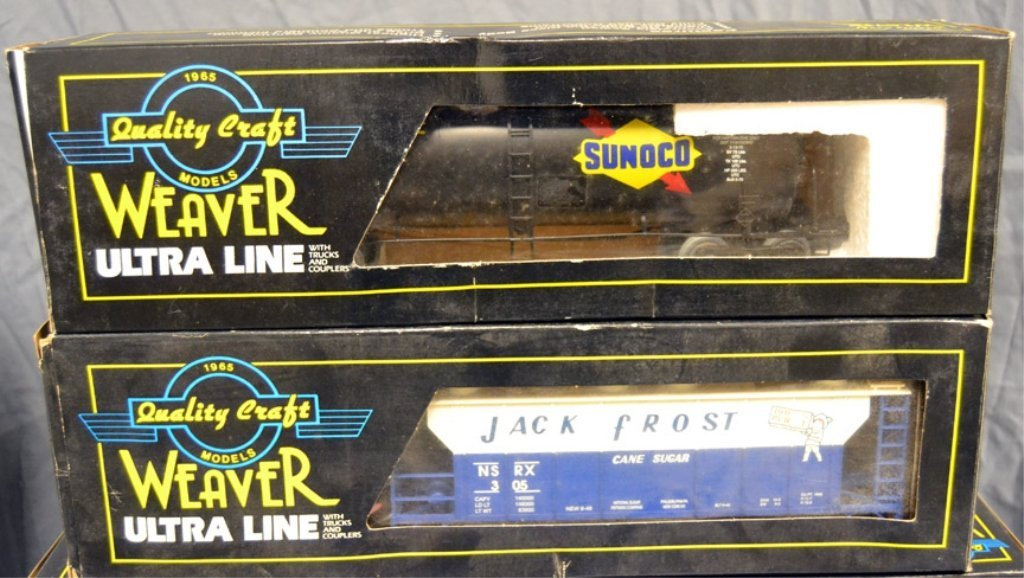 Nine Weaver Ultra Line freight cars in original boxes - 3