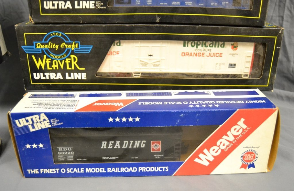 Nine Weaver Ultra Line freight cars in original boxes - 4