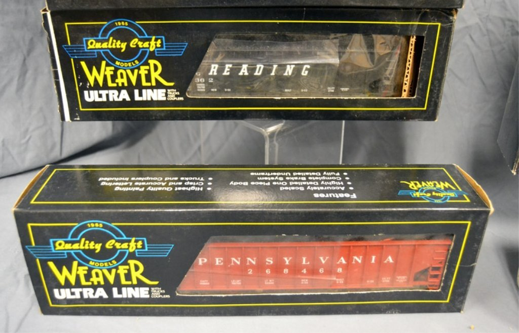 Nine Weaver Ultra Line freight cars in original boxes - 6