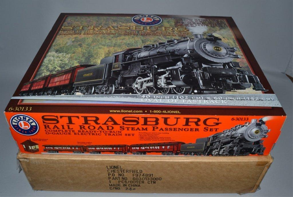 Lionel Strasburg Rail Road Steam Passenger train set in