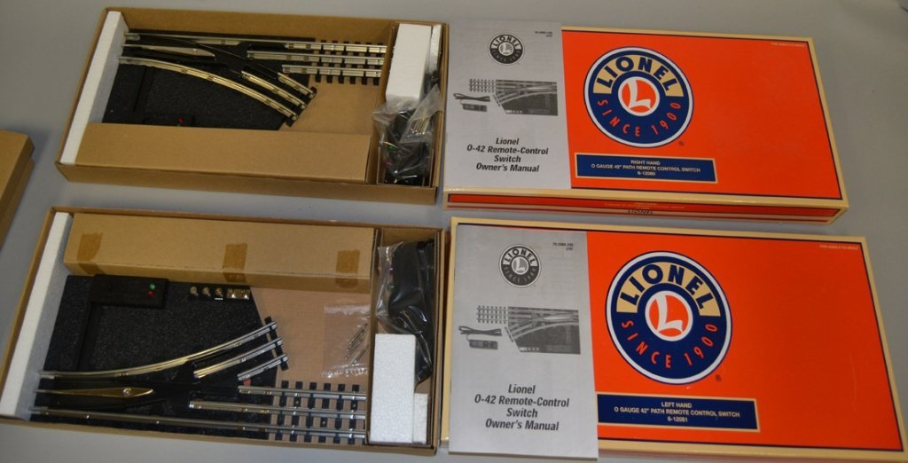 Lionel Right Hand and Left Hand remote control switches