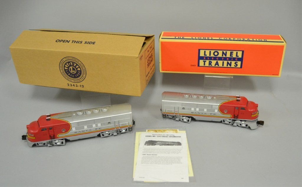 Lionel Twin Diesel Locomotives No. 2343 Santa Fe