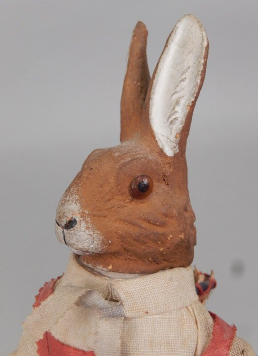 Papier mache Easter Rabbit candy container - 2
