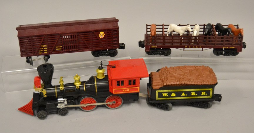 Lionel General No. 3 steam locomotive four piece set