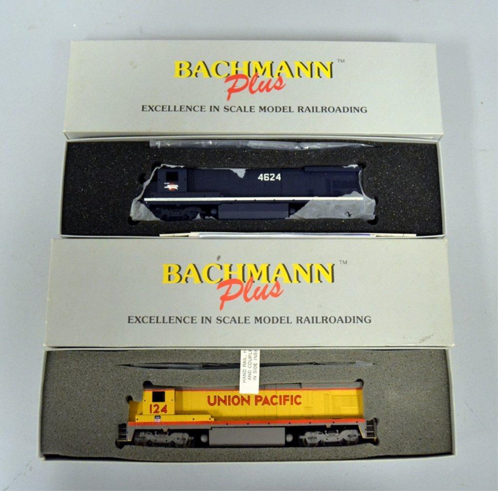 Two Bachmann Plus Diesel locomotives