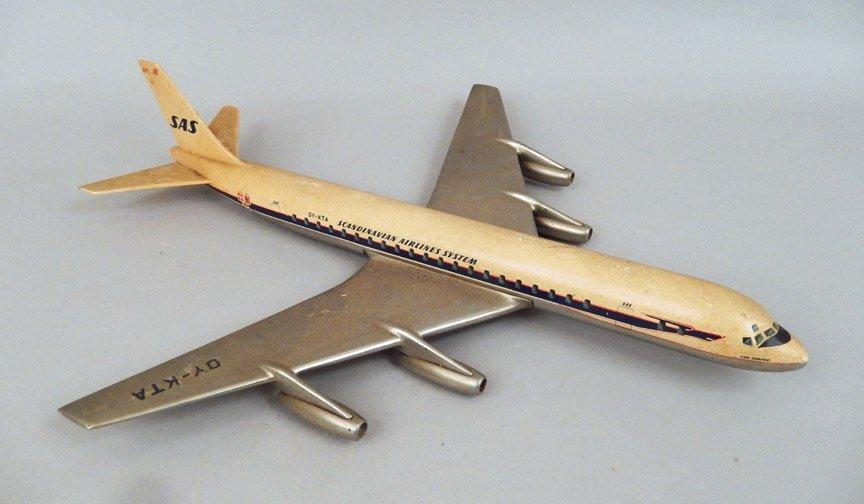 Scandinavian Airlines System DC-8 model plane - 2