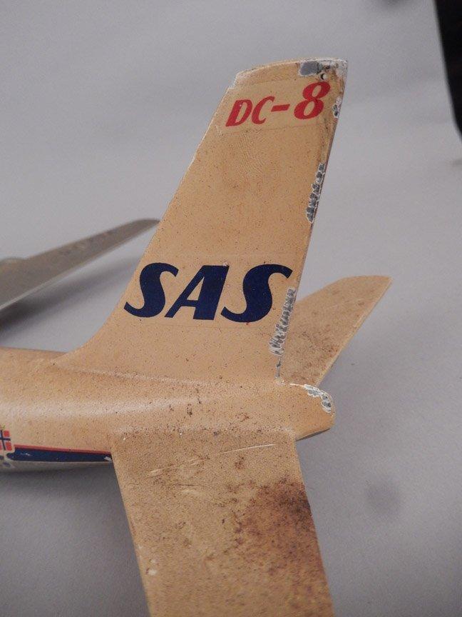 Scandinavian Airlines System DC-8 model plane - 7