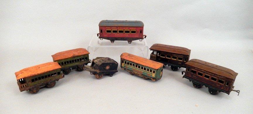 Seven prewar passenger cars, Ives, Bing, Joy Line