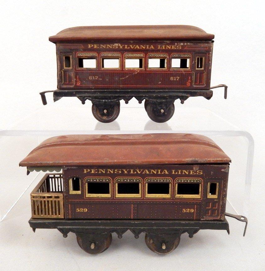 Seven prewar passenger cars, Ives, Bing, Joy Line - 3