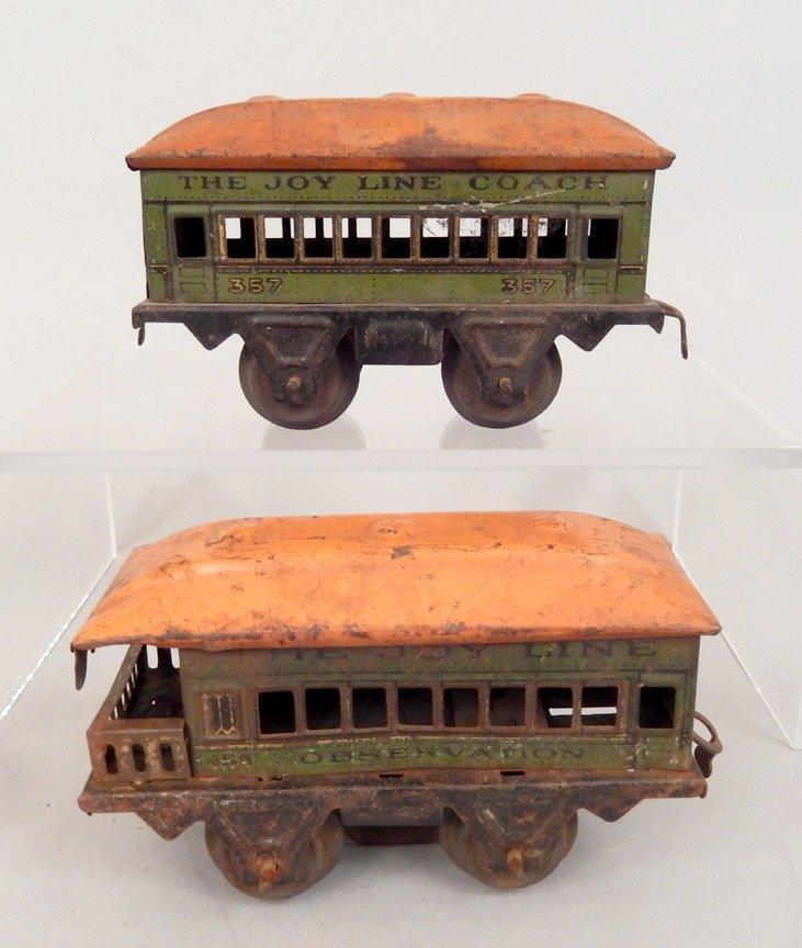 Seven prewar passenger cars, Ives, Bing, Joy Line - 4