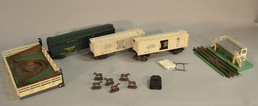 Lionel 3356 Santa Fe Horse Express car, Stockyard two