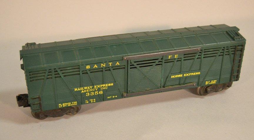 Lionel 3356 Santa Fe Horse Express car, Stockyard two - 4