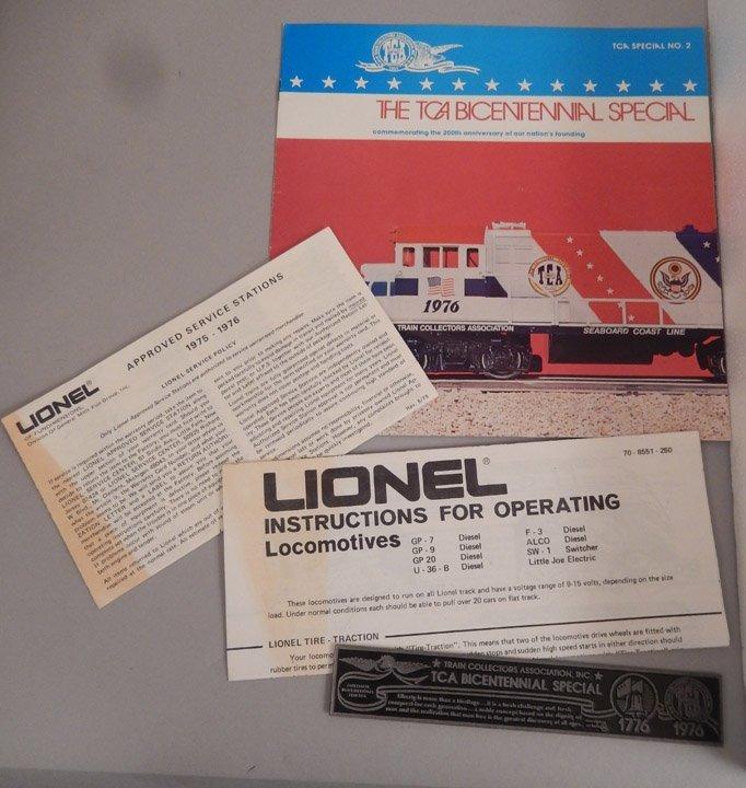 Lionel TCA Bicentennial Special in original box - 5
