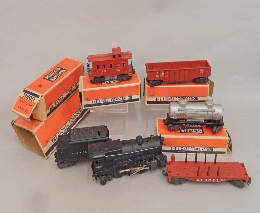 Lionel postwar freight train set in boxes