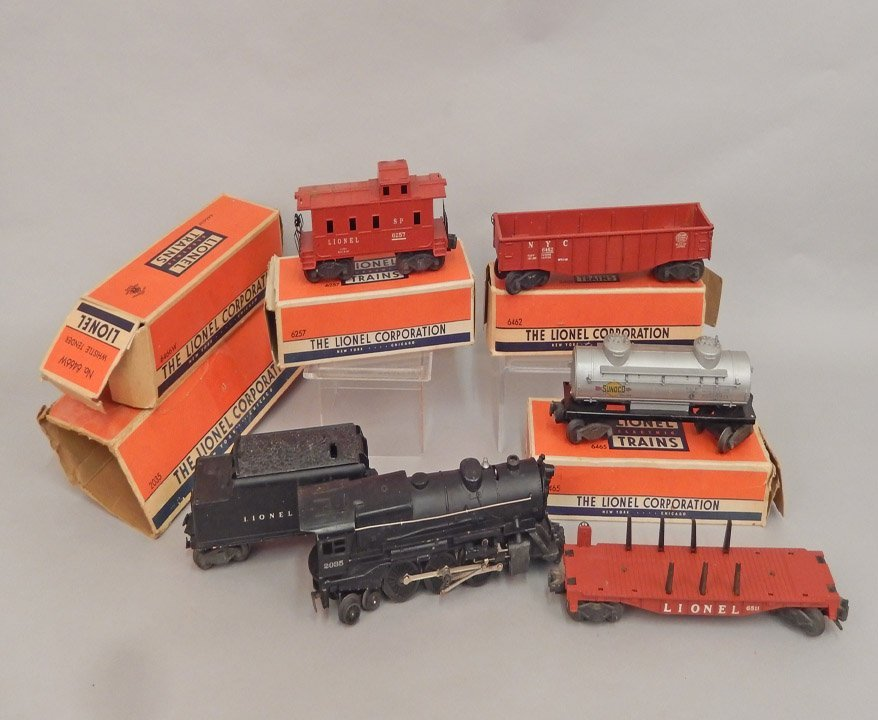 Lionel postwar freight train set in boxes
