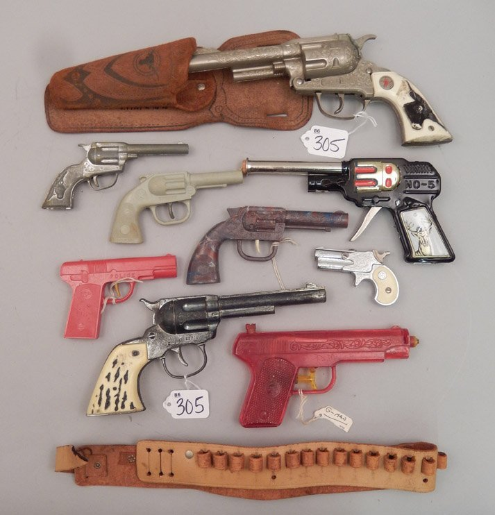 Grouping of toy cap guns