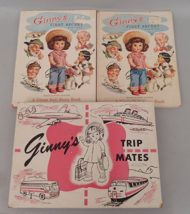 Ginny's Trip Mates in original box and two Ginny books