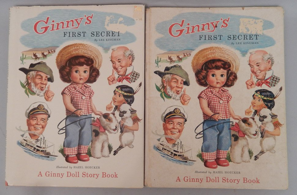 Ginny's Trip Mates in original box and two Ginny books - 2