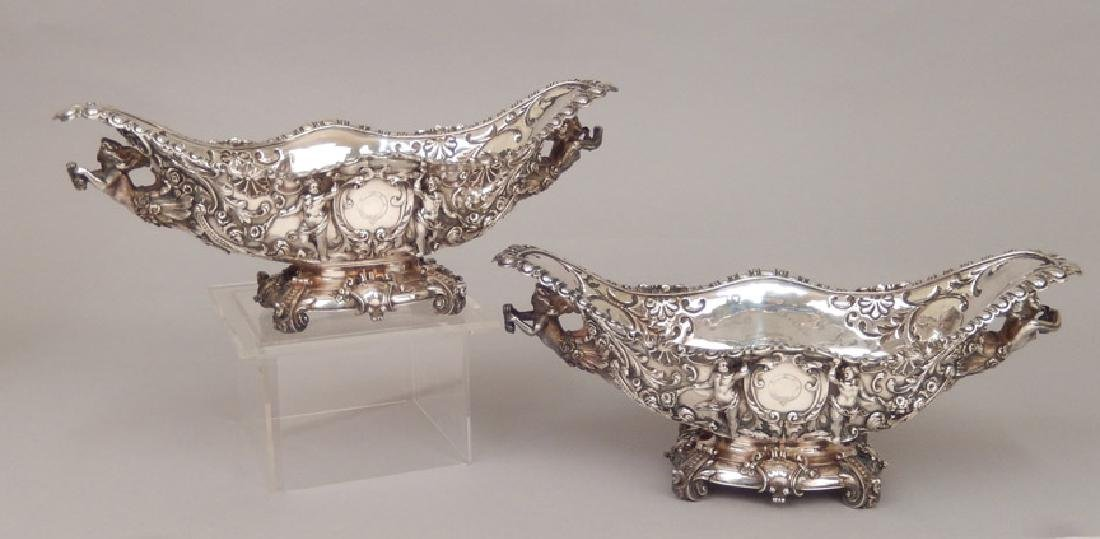 Pair of Carrington & Co. London 1894 sterling silver